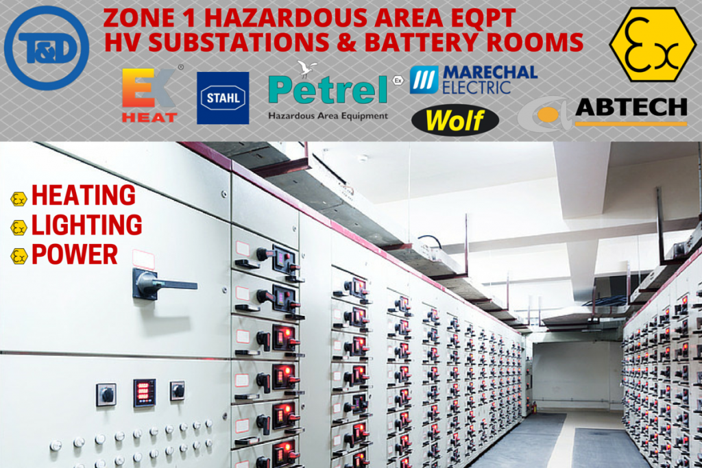 Zone 1 Hazardous Area Equipment - HV Substations - EXHEAT Petrel Wolf Abtech Stahl