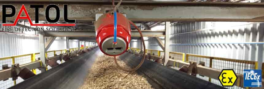 Conveyor Fire Detection Using Patol Flame Sensors To
