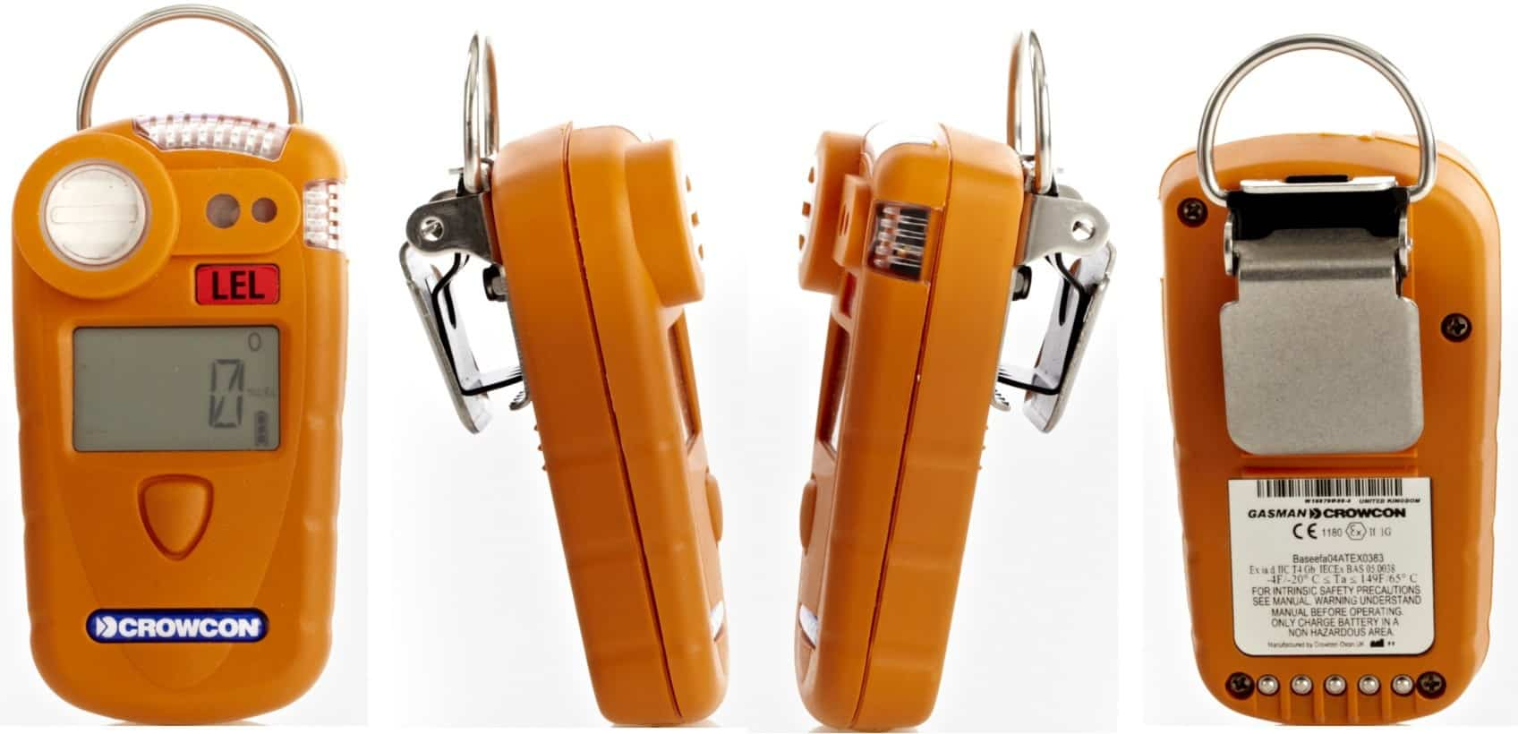 Portable Gas Detector : Crowcon gas detector portable fixed