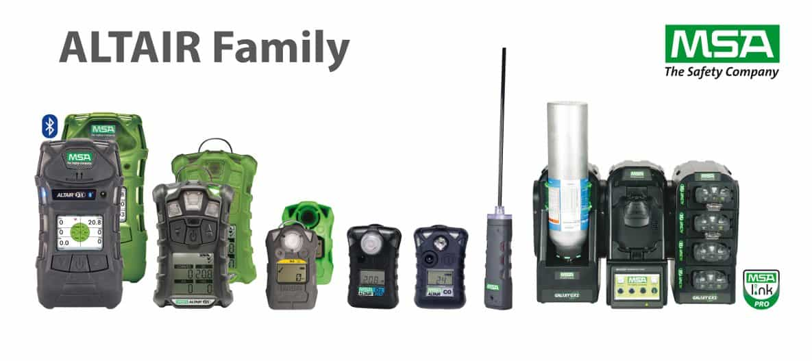 MSA Altair Portable Gas Detectors Range