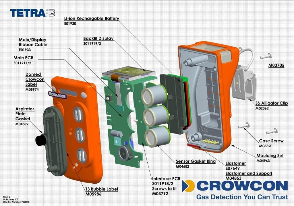 Nh Gas Prices >> Crowcon Tetra 3 Gas Detector - Methane Hydrogen Sulphide Detector