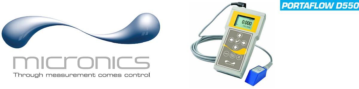 Micronics Portaflow D550 Portable Clamp-on Flow Meter