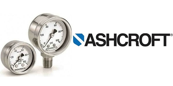 """Ashcroft Duralife Pressure Gauge 0-100 PSI 2.5"""" White Dial Safety Glass Lower"""