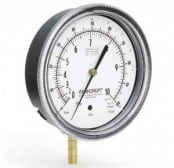 Ashcroft 1495 Low Pressure Diaphragm Receiver Gauge