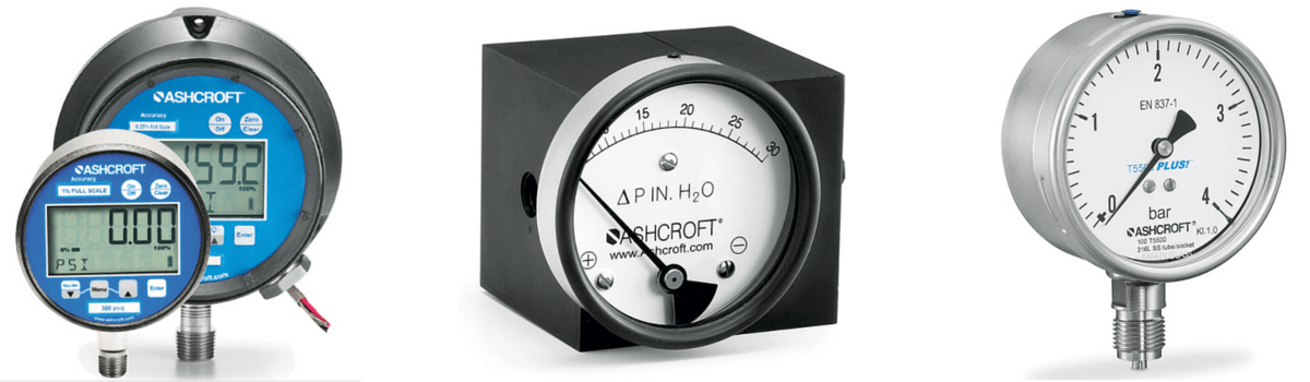Ashcroft Process & Digital Pressure Gauges