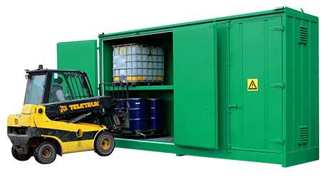 Empteezy Steel Bunded Container Storage Units