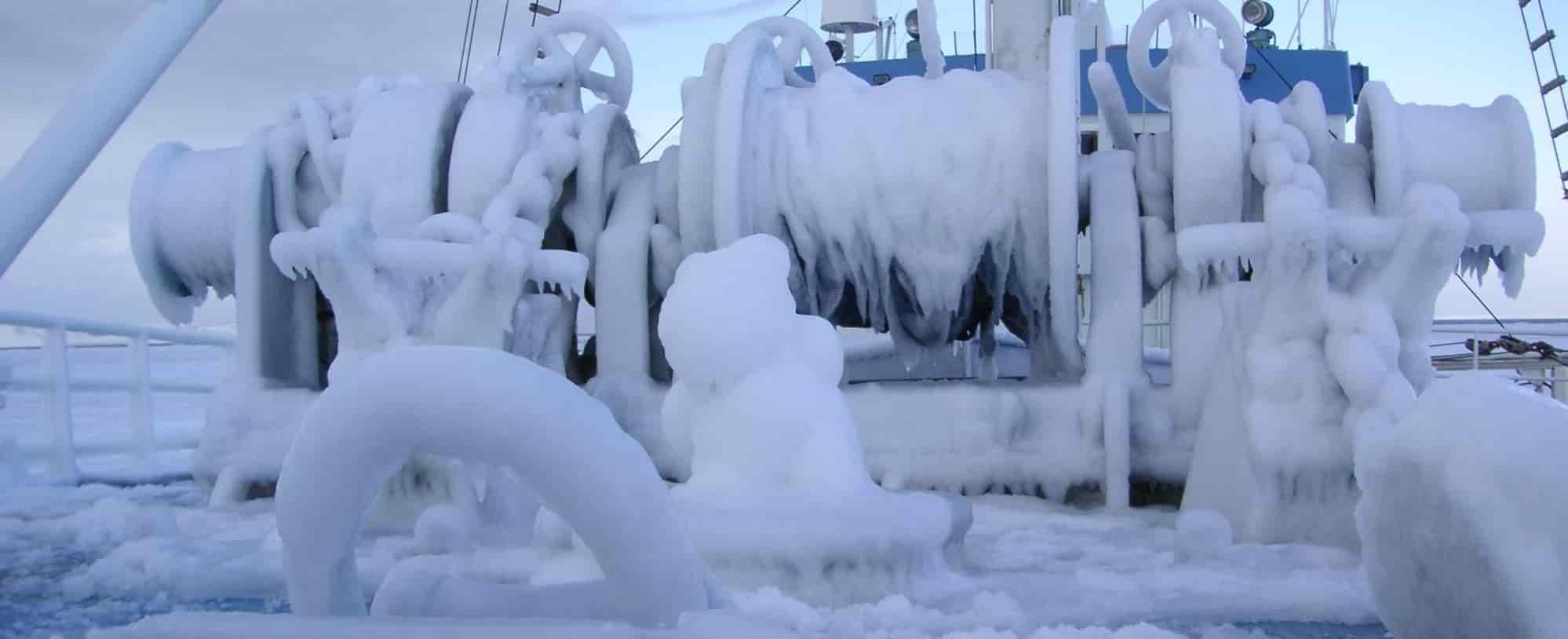 Frozen Arctic Ship