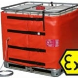 IBC Heater Jackets : Solvent Cleaner Temperature Maintenance In Hazardous Areas