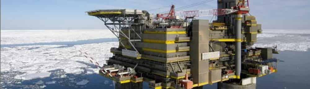 Offshore arctic oil rig