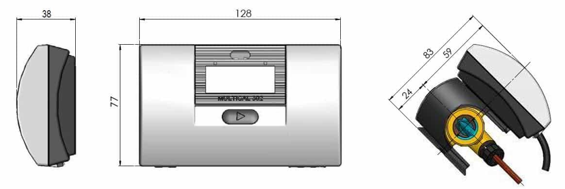 Kamstrup Multical 302 Heat Meter Calculator Dimensions