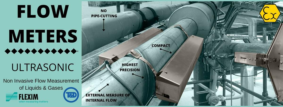 Flow Meters - Ultrasonic Non Invasive Flow Measurement Meters - FLEXIM