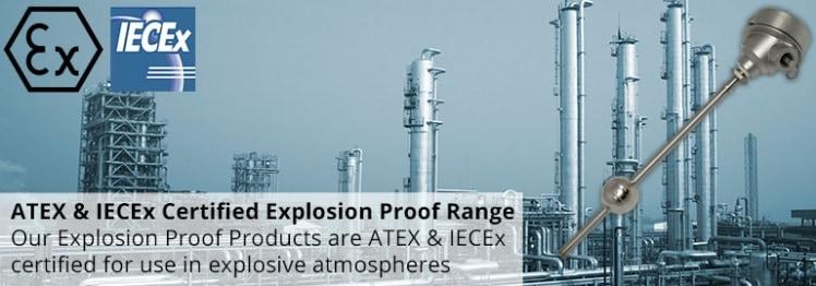 Hazardous Area Liquid Level Sensors & Float Switches (ATEX IECEx)