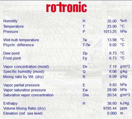 Rotronic Humidity Sensors Transmitters