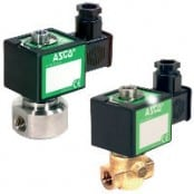 ASCO 374 Solenoid Valves – 1/4, Brass & Stainless Steel, Top Exhaust Pilot Valve