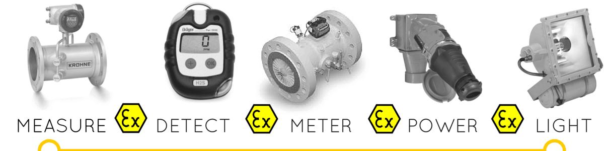Hazardous Area Gas Detection Metering Lighting Flow Measurement