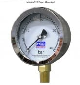 Pressure Gauge – Stainless Steel Case Brass Internals Pressure Gauge