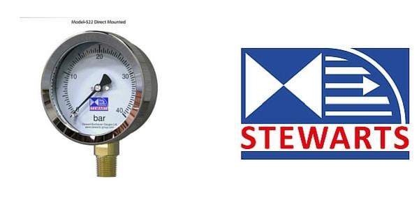 Pressure Gauge - Stainless Steel Case Brass Internals Pressure Gauge