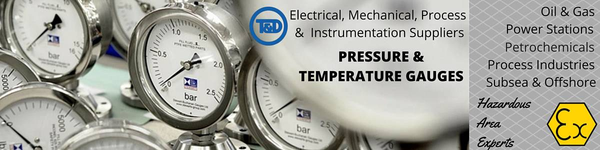 Pressure & Temperature Gauges - Offshore Hazardous Area ATEX
