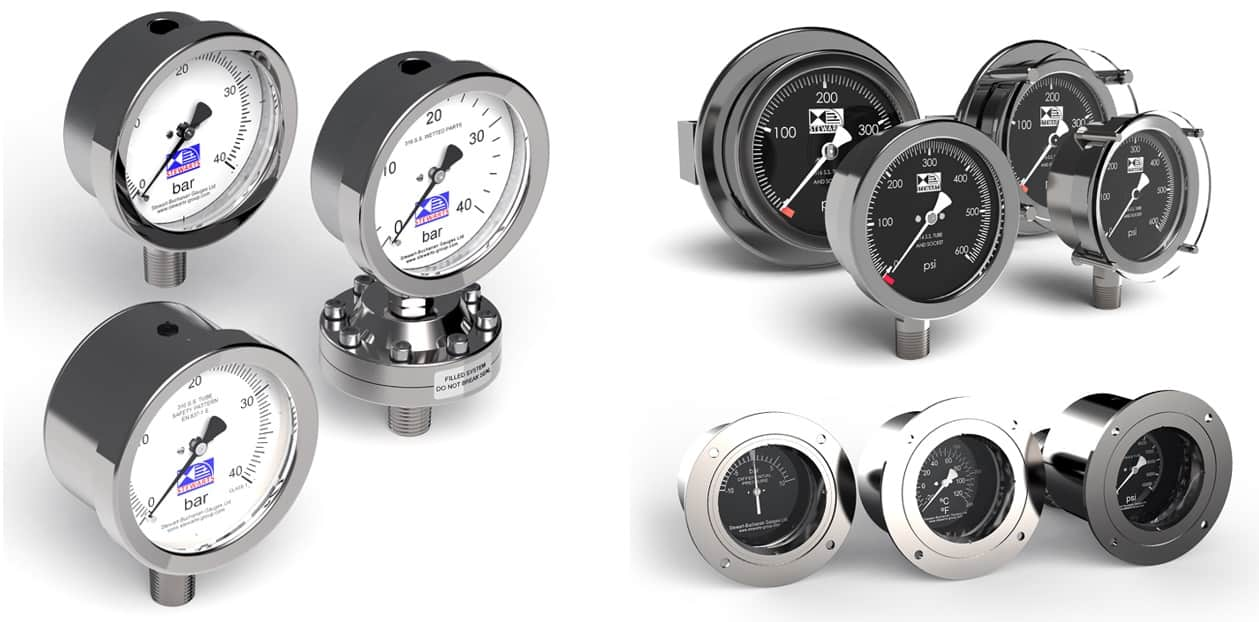Stewart Buchanan Pressure Gauges