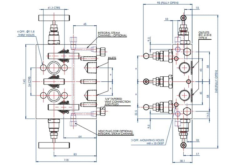 Stewarts EM5 - Valve Product Dimensions
