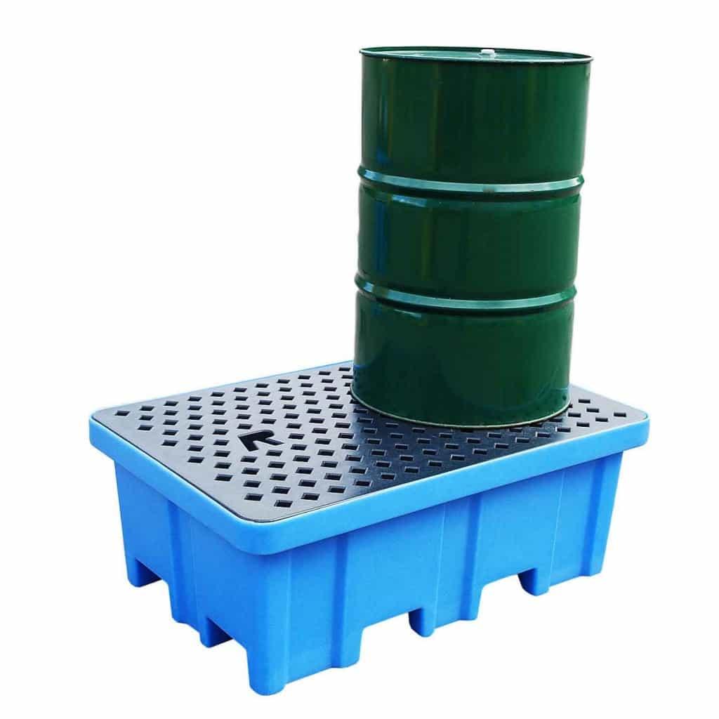 Drum Spill Pallet (Plastic) 205 Litres Drums - Empteezy PP2FW - 1