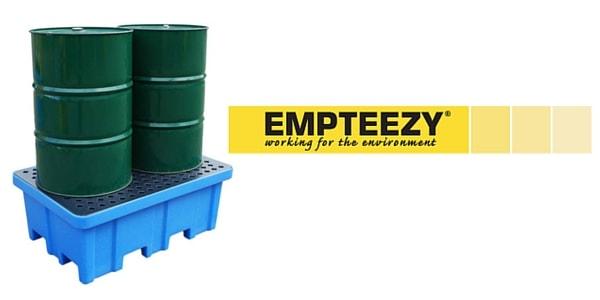 Drum Spill Pallet (Plastic) 205 Litres Drums - Empteezy PP2FW