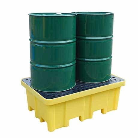 Drum Spill Pallet (Plastic) 205 Litres Drums - Empteezy PP2FWY - 1