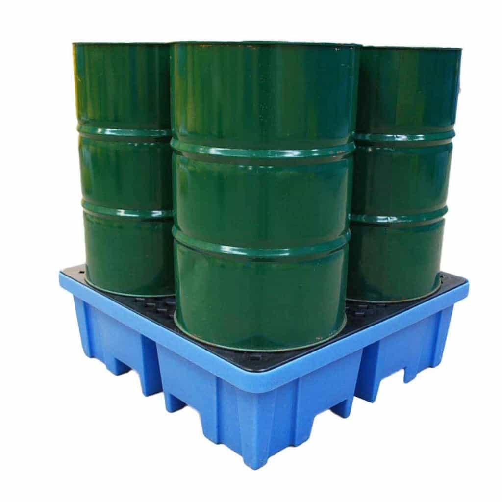 Drum Spill Pallet (Plastic) 205 Litres Drums - Empteezy PP4FW