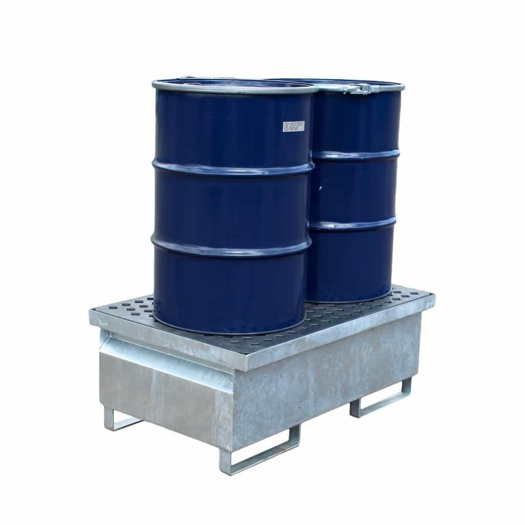 Drum Spill Pallet (Steel) 205 Litres Drums - Empteezy GSP2PG