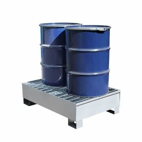 Drum Spill Pallets - Steel 2 x 205 Litre Drums
