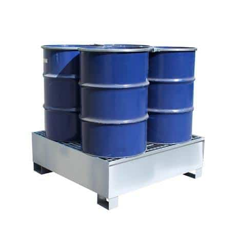 Drum Spill Pallets - Steel 4 x 205 Litre Drums