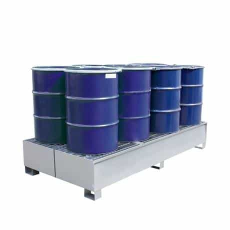 Drum Spill Pallets - Steel 8 x 205 Litre Drums