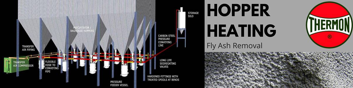 Hopper Heating Using Thermon Heat Trace Cables - Prevent Clogging Caking