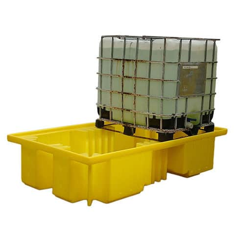 IBC Spill Pallet (Plastic) 1000 Litre Totes & Containers - Empteezy OPIBC2Y