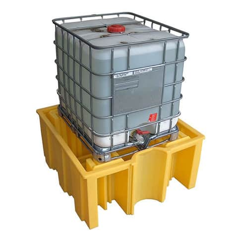 IBC Spill Pallet (Plastic) 1000 Litre Totes & Containers - Empteezy OPIBCY