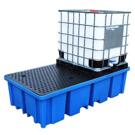 IBC Spill Pallet (Plastic) 1000 Litre Totes & Containers - Empteezy PIBC2FW