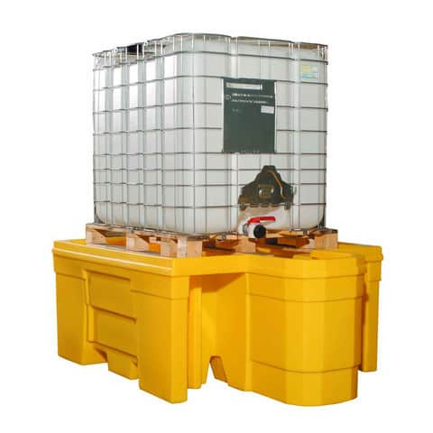 IBC Spill Pallet (Plastic) 1000 Litre Totes & Containers - Empteezy PIBCDY