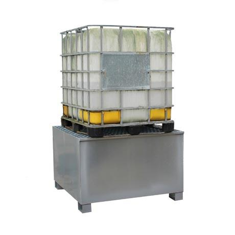 Steel IBC Spill Pallet – 1 x 1000 Litre IBC Containers