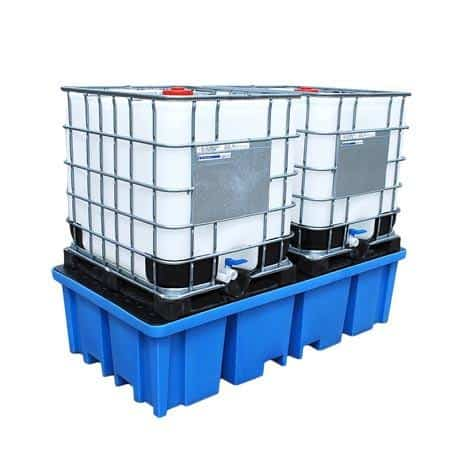 Plastic IBC Spill Pallet - 2 x 1000 Litre IBC Containers