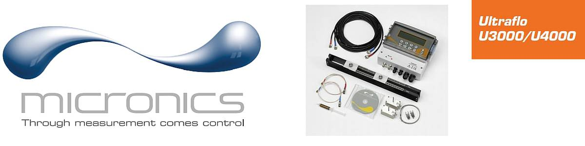 Micronics U3000/4000 Flow Meters (Clamp-on Flow Meter Fixed - Liquid Flow Monitoring)