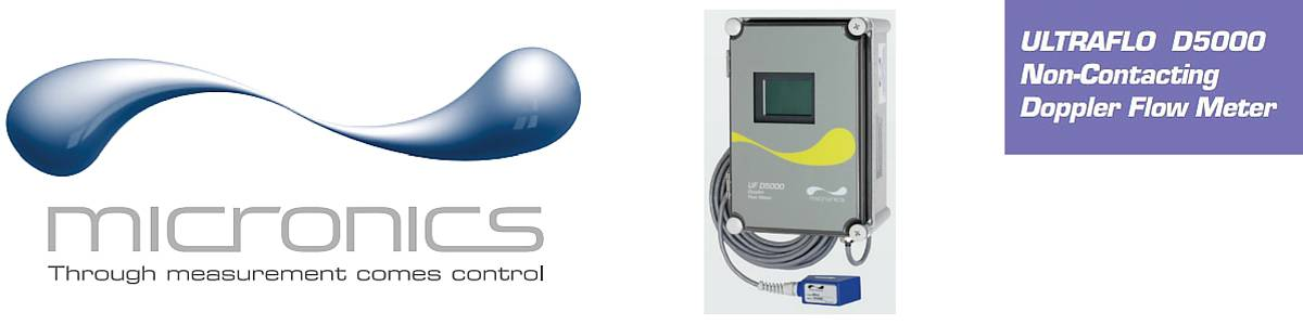 Micronics UF D5000 Flow Meters (Clamp-on Flow Meter Fixed - Liquid Flow Monitoring)