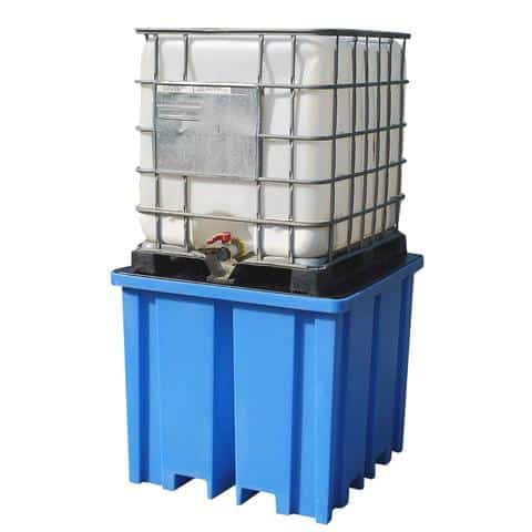 Plastic IBC Spill Pallet - 1 x 1000 Litre IBC Containers