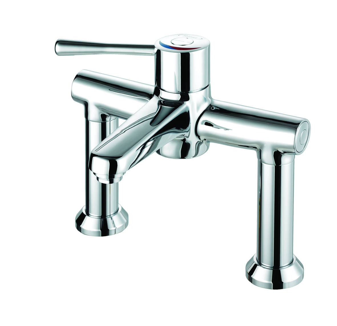Deck Mounted Chrome Plated Brass Thermostatic Mixing Valve: RWC Caremix H3 TMV3 & WRAS Thermostatic Mixing Taps (Deck
