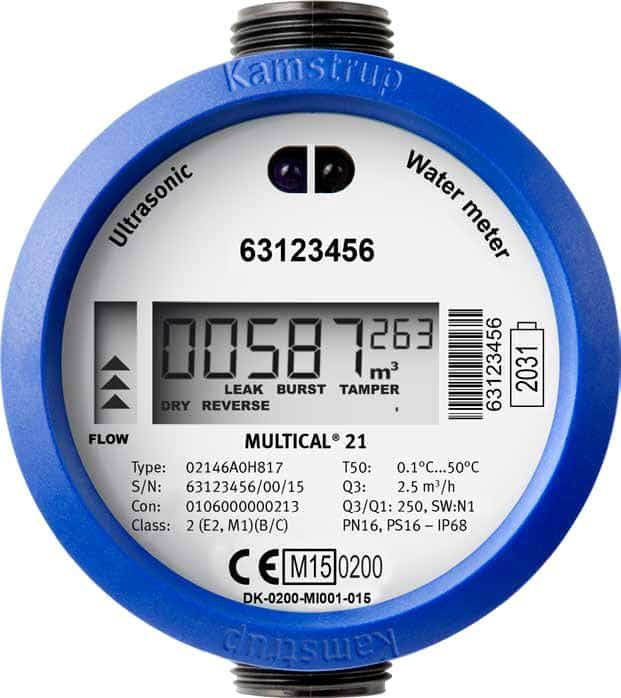 Residential Water Meter : Kamstrup multical residential ultrasonic water meter