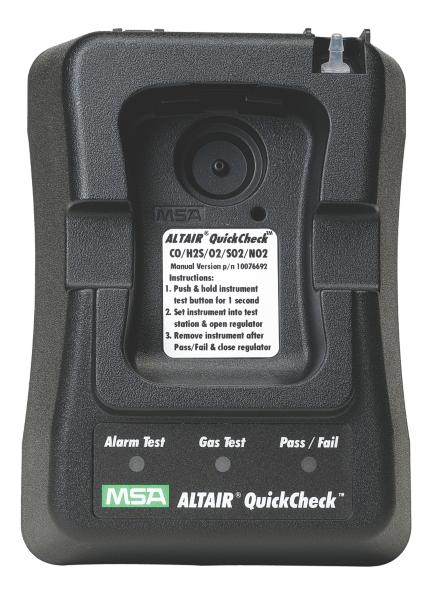 How To Make A Bump Key >> MSA ALTAIR QuickCheck Station - Portable Gas Detection