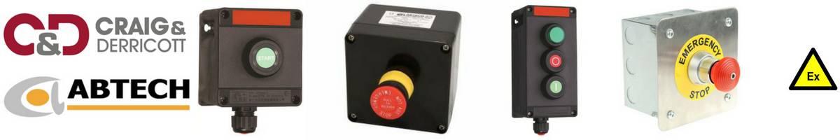 Abtech Craig Derricott Control Stations Push Buttons - Hazardous Area Zone 1 Zone 2 ATEX