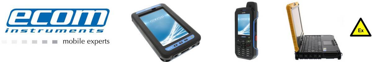 Ecom Mobile Phones Tablets Laptops - Hazardous Area Zone 1 Zone 2 ATEX