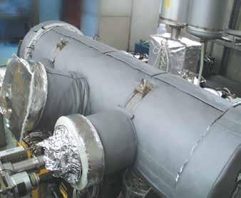 Fibreglass Insulated Heater Jackets - Vacuum Chamber Flange Heating