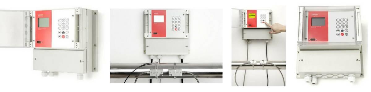 Katronic KATflow 150 Ultrasonic Clamp-On Flowmeter (Fixed) - In Operation