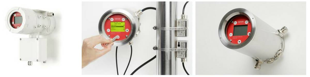 Katronic KATflow 170 ATEX Ultrasonic Clamp-On Flowmeter (Fixed) - In Operation